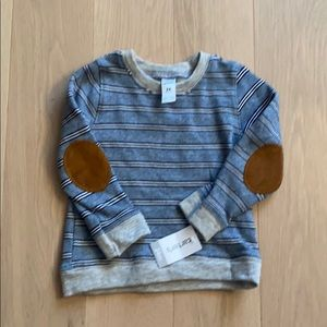 NEW Carter's Striped Sweatshirt Elbow Patches